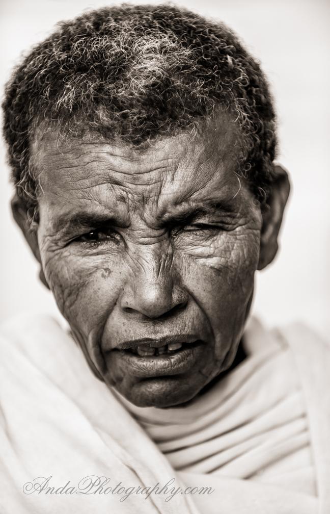 elderly Ethiopian midwife