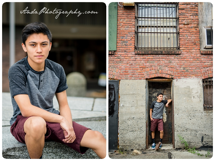 Bellingham Senior Portrait Photography Urban Downtown Guy Senior Photos Julio_0003